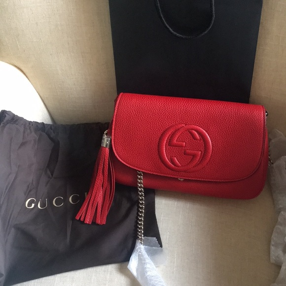 02bfa52bcc27aa Gucci Bags | Authentic Gold Chain Crossbody Nwt | Poshmark